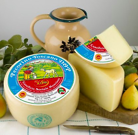 Pecorino Toscano DOP 30 Days Aged cheese - whole Wheel 4 Lbs