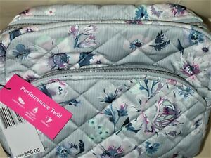 Vera Bradley Large Cosmetic Bag Performance Twill in Park Stripe. New with Tags.