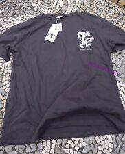 Dark Grey Zara Printed T Shirt L Large 12 New