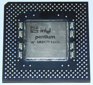 Pentium MMX 1 P55C 200 Mhz SL27J 3 x 66 Mhz Prozessor CPU I/O 3,3V Core 2,8V S 7