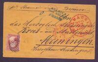 America über Bremen - Umschlag aus USA über Bremen nach Meiningen 1860 (045)