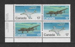 CANADA 1980 - Military Aircraft (2nd. series) - SG.996/7 Corner Block - MNH.