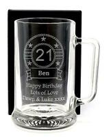 Personalised Birthday Pint Glass Beer Tankard Gift For Men/30th/40th/50th/60th