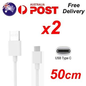 2x Type C Charging Cable USB C Fast Charger Cord for Samsung S8 S9 S10 Note 50cm