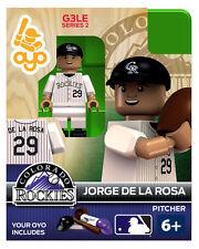 Jorge De La Rosa OYO Colorado Rockies MLB Mini Figure NEW G3