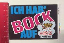 Aufkleber/Sticker: Ich Hab Bock Auf Coca-Cola & Pommes Frites Nordsee(010516124)