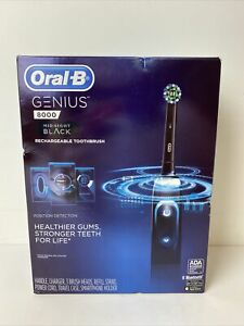 NEW Midnight Black Oral-B Genius 8000 Rechargeable Electric Toothbrush