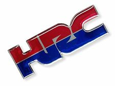 1PC. HRC HONDA RACING TEAM RESIN COATED REFLECTIVE STICKER DECAL SILVER METALLIC