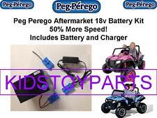 18V BATTERY & CHARGER CONVERSION PEG PEREGO RZR 900 w/ $20CASH BACK OPTION