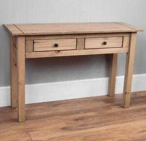 Panama Console Table Solid Pine 2 Drawer Hallway Furniture Pine