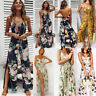Summer Women Strappy Floral Long Trouser Playsuits Jumpsuit Rompers Holiday 0