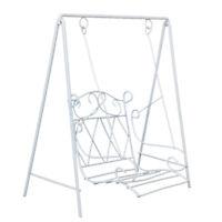 1:12 Scale Dollhouse Miniature Iron Metal  Porch Swing White WG010B