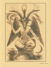 Baphomet Sabbatic Goat Parchment Page for Book of Shadows. Altar!