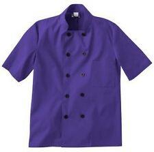 Five Star Unisex Chef Coat Purple 18025-122 Apparel