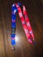 New Baseball Chicago Cubs Lanyard ID Badge Holder Breakaway Clip Keychain