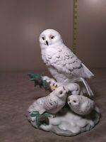"Vintage Ceramic Snow Owl w/Chicks-7"" H x 6"" W excellent condition"