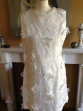 MISS SELFRIDGE DRESS WHITE APPLIQUE MOTHER OF BRIDE CRUISE RACES 14 NEW