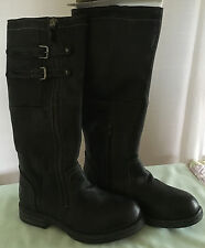Bullboxer Ladies Black Leather Knee High / Full Length Boots, size 37 (UK 4)