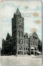 Decatur, Illinois Postcard MACON COUNTY COURT HOUSE Photoette  - 1911 Cancel