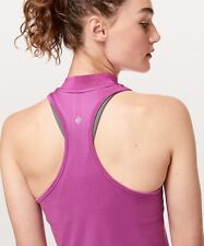 NEW Lululemon Swiftly Tank 4 Henley Polo Pink Hyacinth top tennis golf