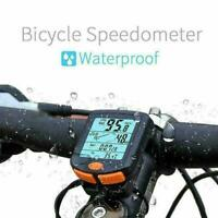 ABS Wireless Bike Cycling Bicycle Cycle Computer Odometer Backlights Speedo V7T1