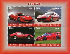 Chad 2018 MNH Ferrari 4v M/S Transport Cars Stamps