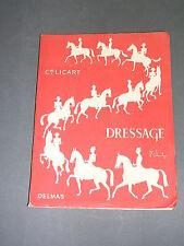 Equitation Commandant Licart dressage Ed. Delmas 1954 manuel illustré