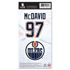 Edmonton Oilers Connor McDavid Name & Number Decal Sticker Set