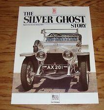 1975 Rolls Royce Silver Ghost Story Autocar Sales Brochure 75