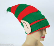 Deluxe Elf Hat with Ears Christmas Party Festive Fancy Dress Costume Accessory