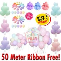 "100Pcs 10"" 12"" Macaron Candy Latex Pastel Balloon Wedding Party Decor Birthday"