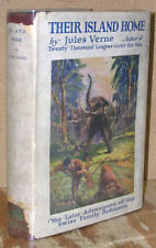 Their Island Home by Jules Verne-1st U.S. Ed./DJ-1924-Swiss Family Robinson
