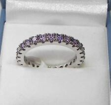 Round unsizable Amethyst Costume Rings