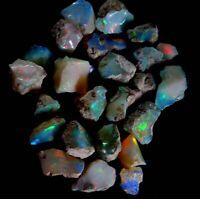 100% Natural Lot Ethiopian Fire Multi Color Flashy Fire Opal Rough Lot JG2016