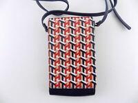 Tommy Hilfiger Julia Blue Crossbody Logo Pattern Phone Handbag