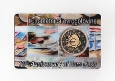 MUY RARO COINCARD OFICIAL ESLOVENIA 2012 ANIVERSARIO DEL EURO