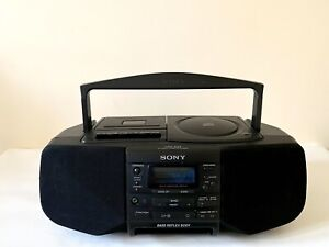 Sony CFD-S23 CD and Cassette Player with FM Radio - Black