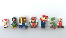 7 Pcs - Mini Super Mario Bro. World Oasis Figures Set Party Favors Cake Toppers