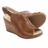 Pikolinos Benissa Wedge Leather Brandy Women's Sandals Sz 41/10.5-11 M ***NEW**