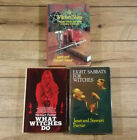 x3 - VINTAGE 1st Ed WITCHCRAFT Lot - Janet & Stewart Farrar - Occult HARDCOVERS
