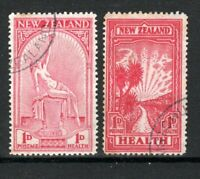 New Zealand 1932 and 1933 Health Stamps FU CDS