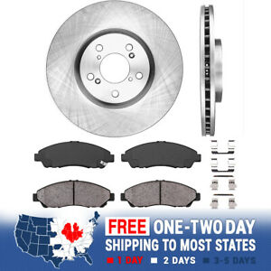 For Honda Pilot Acura MDX ZDX Front 330 mm Brake Disc Rotors And Ceramic Pads