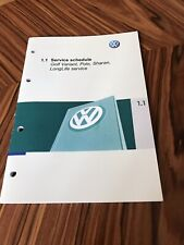 VW Volkswagen Service Book Golf Polo Scirocco Passat *All* Petrol Diesel