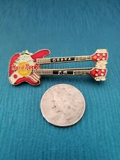 "Hard Rock Cafe ""Osaka"" Double Neck Bass Guitar Lapel Pin!"