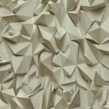 3d Efecto Estampado Triángulo Geométrico Papel pintado textura no tejida BEIS
