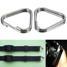 2Pcs/lot Camera Strap Triangle Rings Replacement Chrome Finish Split Ring Hook