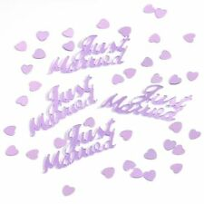 4 x LILAC JUST MARRIED 14g FOIL CONFETTI TABLE SCATTER  DECORATIONS (PA)