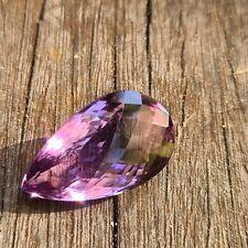 Amethyst 37 Carat  Teardrop Checker  Cut Natural Gemstone