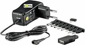 Goobay Universal Switching Power Supply 3 / 4,5/5/6/ 7,5/9/12 V With USB Ovp