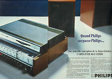 Publicité Advertising 1968 (Double page)  PHILIPS l'ampli tuner hi-fi stéréo